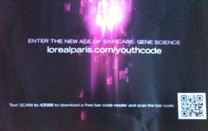 L'Oreal's boring QR code just takes you to their webpage