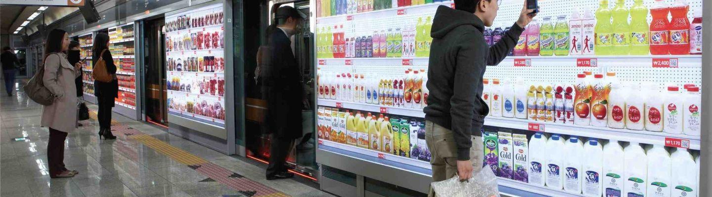 Tesco 'Homeplus' underground virtual supermarket in South Korea