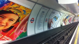 iPad ads at Oxford St tube platform