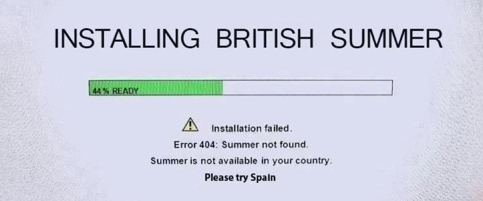 Installing British Summer: 44% complete. ERROR: Summer not found. Summer is not available in your country. Please try Spain.