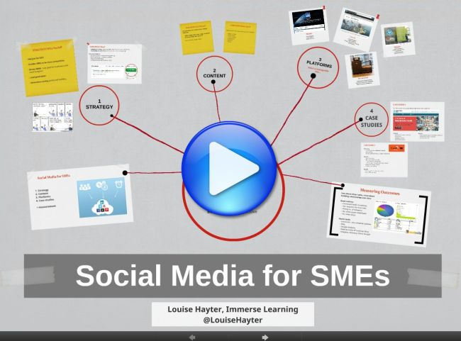 Social media for SMEs - image hyperlinked to prezi